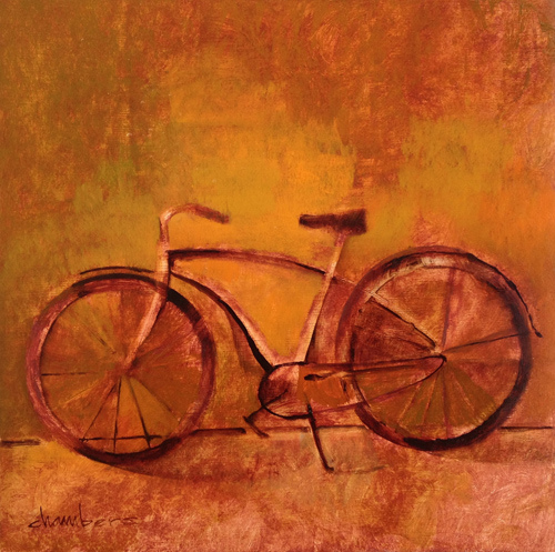 Fantabike, oil on board, Michael Chambers
