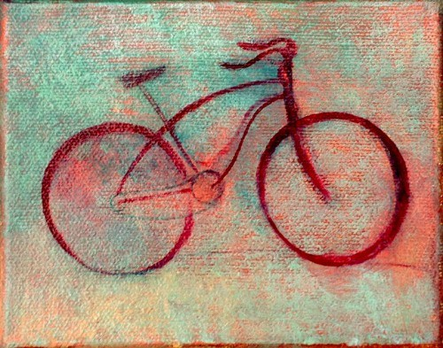Ready Bike, oil on canvas, Michael Chambers