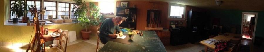 Michael Chambers in his studio