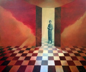Waiting in the Wings - oil on canvas - 30 x 36 inches - Michael Chambers