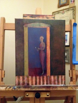 oil on canvas, painting in process, Michael Chambers
