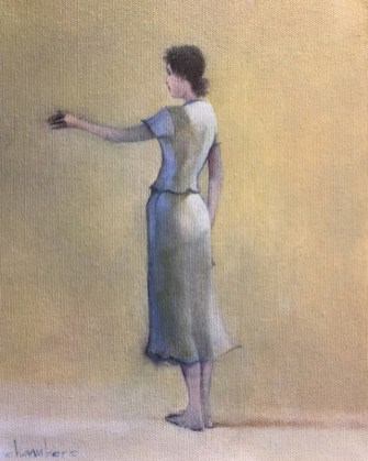 Michael Chambers - Seeker, Finder 2 - oil on canvas - cropped