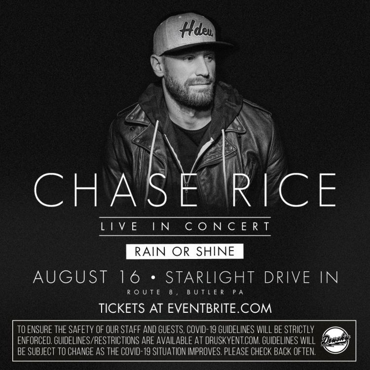 Chase Rice and Michael Christopher at Starlight Drive-In