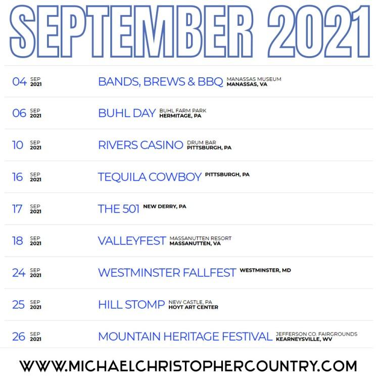Michael Christopher Band - September 2021