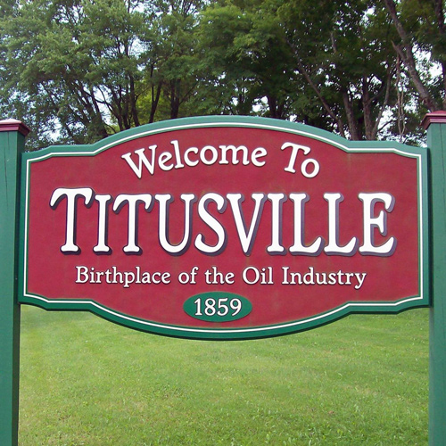 Titusville, PA Sign