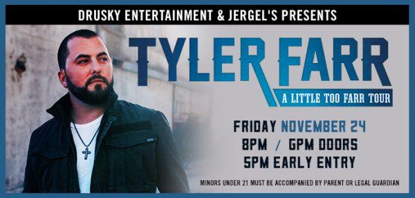 Tyler Farr at Jergels 11-24-17