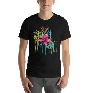 Tropical Floral Short-Sleeve Unisex T-Shirt