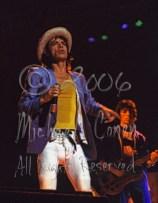 Mick Jagger gazes & Bill Wyman plays [The Rolling Stones - Rupp Arena, Lexington Ky 12-11-81]