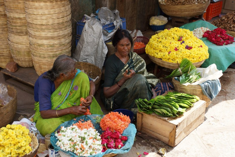Women Selling Flowers
