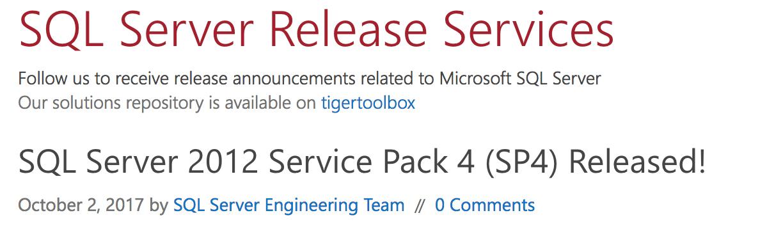 SQL Server 2012 Service Pack 4 - Michael Corey's Blog