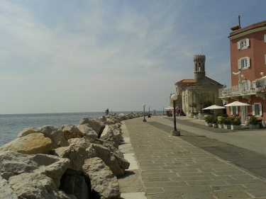 View of the Adriatic from Piran, Slovenia!
