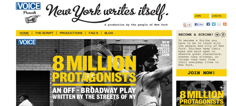 The crowdsourced material has spawned a broadway play