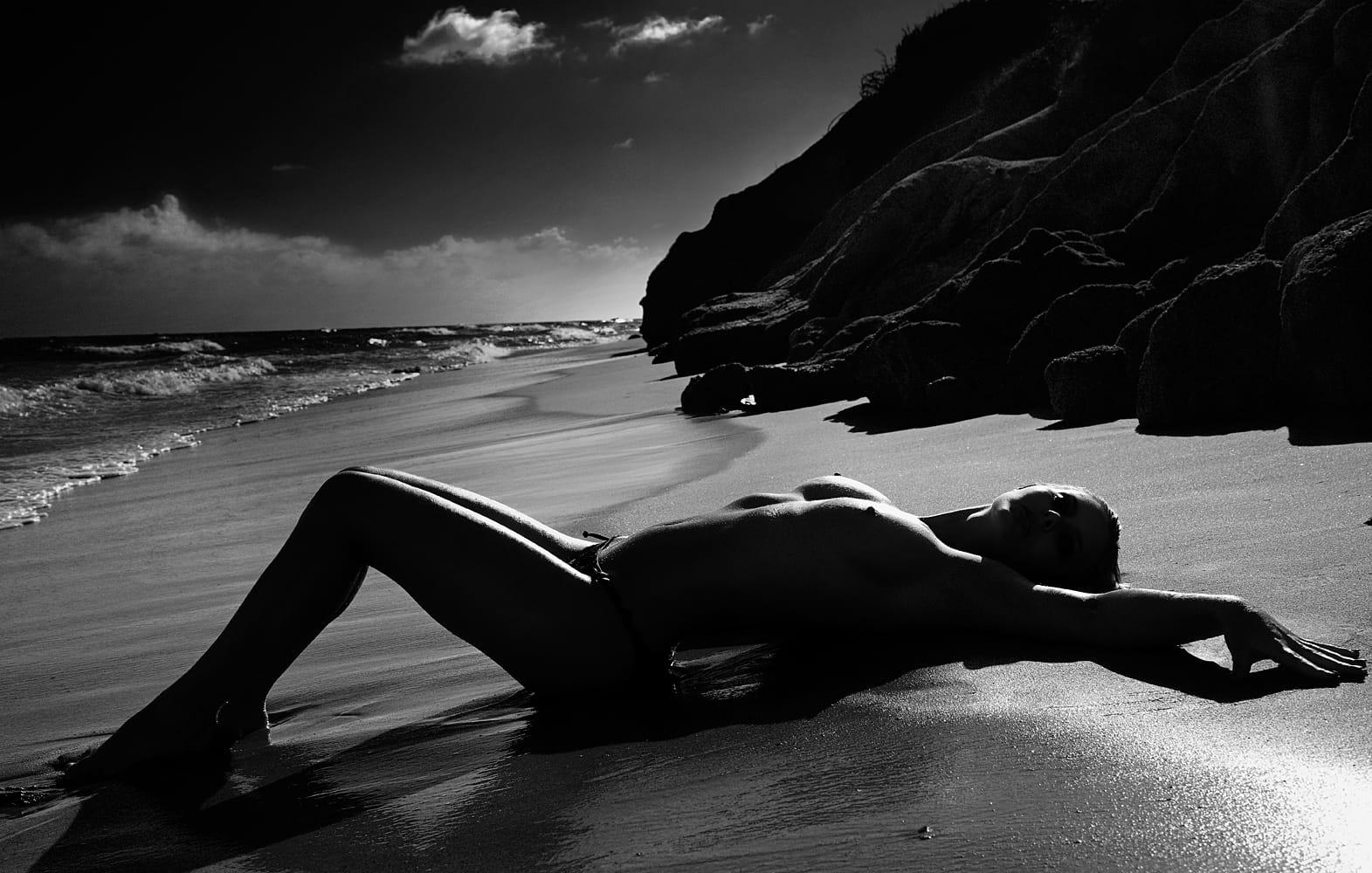 Amanda Streich Nude Photography Michael David Adams Photographer Limited Edition Black Sand Beach