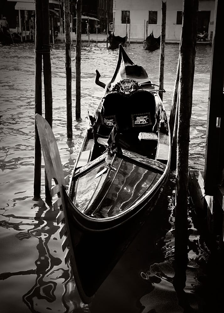 Venice Italy Limited Edition Photography Michael David Adams Photographer Gondola