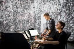 "Wiklow, Diagraf & Ewerx - ""Liquid Architecture"". Photo: Sébastien Roy"