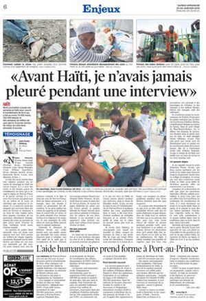 Tribune de Geneve (Switzerland), January 24, 2010
