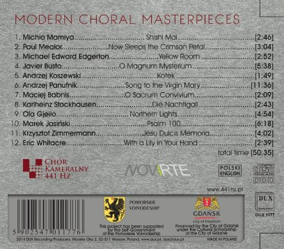 modern choral masterpieces back