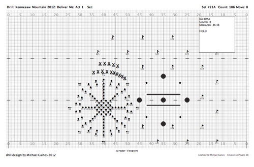 Michael Gaines » Custom drill design for marching bands