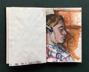 Sketchbook, Paul, June, 1986