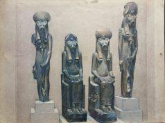 Four Statues of the Goddess Sakhmet