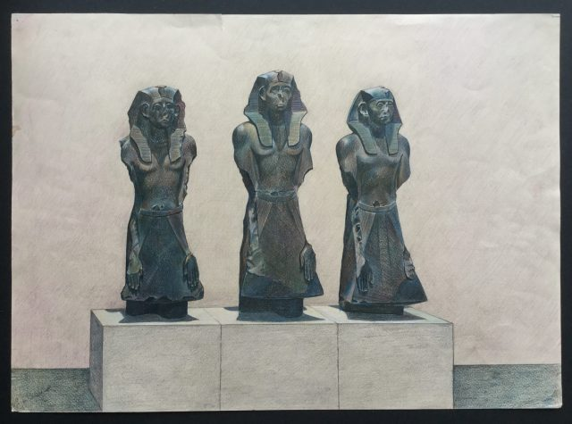Three Statues of Senwosret III,