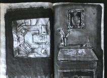 """""""Metamorphosis"""" Sketchbook, 14 x 9 in., 1985"""