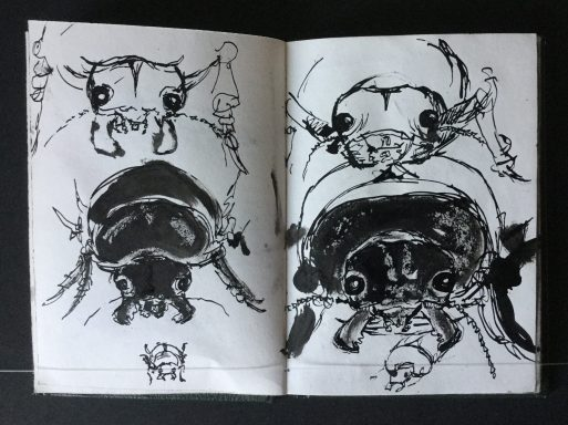 """""""Metamorphosis"""" Sketchbook, Approx. 5 1/2 x 4 in., 1985"""