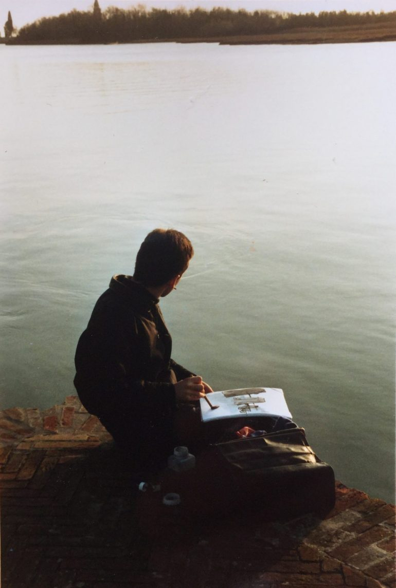 MG Sketching in Venice, 1987