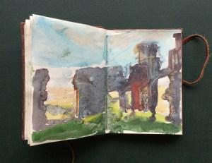 Sketchbook - Slains Castle, Scotland, 2002