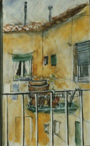 Courtyard, Via Ginori, Rome, 1987, Private Collection