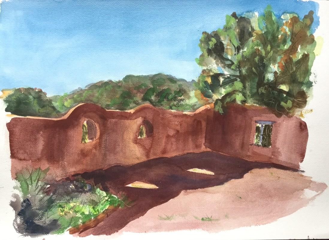 Adobe Wall, Santa Fe, 2010