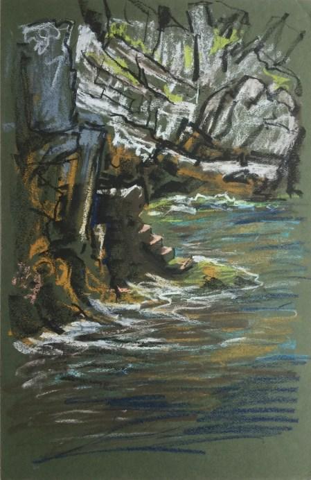 Cliffside Steps, Nonza, Corsica, 2007