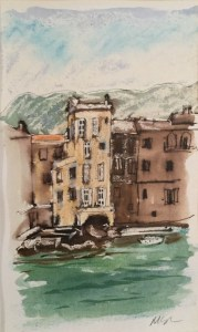 Saint-Florent from the Citadel, Corsica, 2003