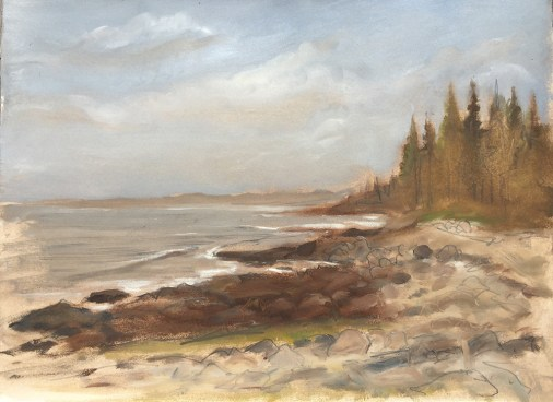 Coastline, Johns Bay, Pemaquid, 2015, Private Collection