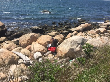 MG - painting at Fishers Island