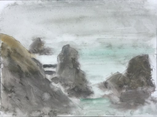 Rocks, Rainfall, Shoreline Highway, 2013