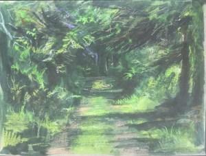 Driveway, Garden Cottage III, June, 2016
