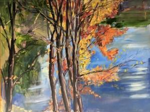 Upton Lake, Through the Trees, October 26th, 2019
