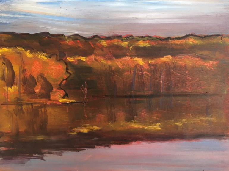 Upton Lake, Twilight, October 19th, 2019