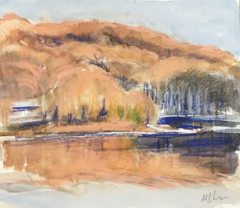The Peninsula, Upton Lake, Late Afternoon, Winter 2014, PRIVATE COLLECTION