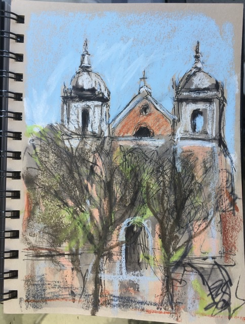 Sketchbook page, Lisbon, March 4th, 2020