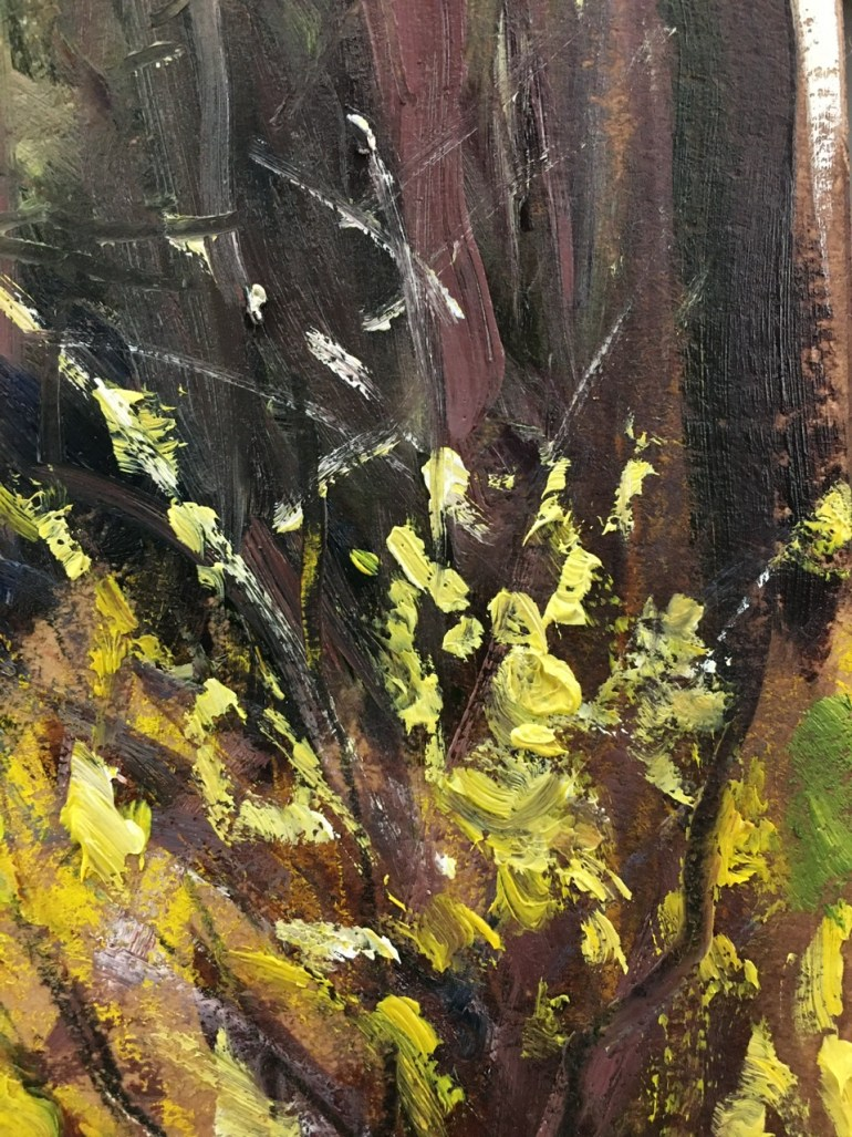 Detail - Sunday Afternoon, Forsythia, 4:50 pm, April 19th, 2020