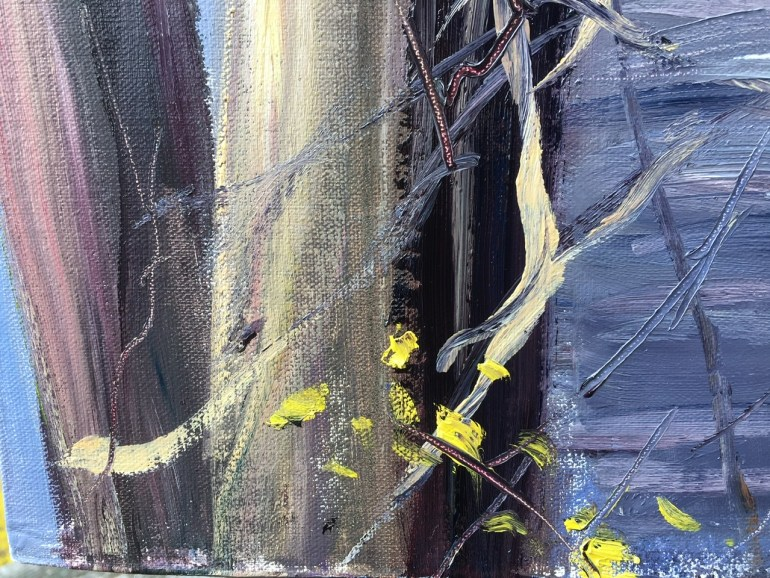 Detail - Upton Lake, Through the Trees, 10:00 am, April 11th, 2020