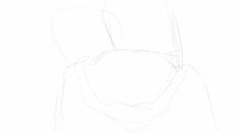 Movie line sketch: hoodie