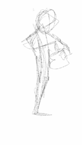 Gesture drawing from movie line