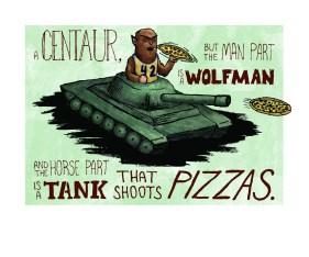 Wolfman Pizza Tank