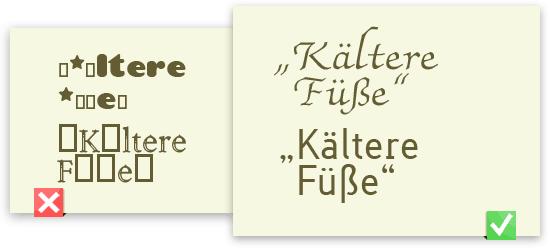 Schlecht und gut ausgestattete Free-Fonts