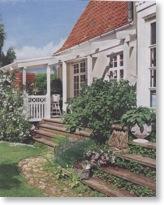 Garteneingang zu einem Haus