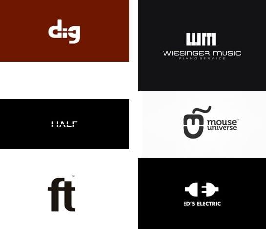 Beispiele für Logos, die White Space nutzen