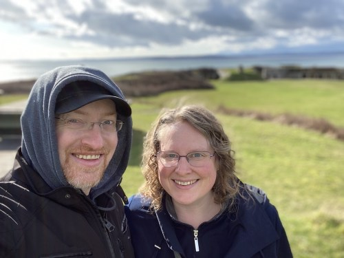 Prairie and I at Fort Casey Historical State Park